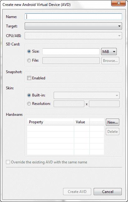 اجرا برنامه در ماشین مجازی اندروید
