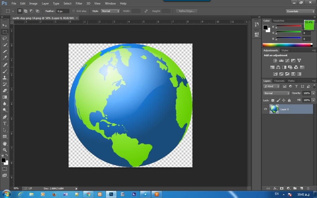 تغییر میزان شفافیت یک لایه از عکس در فتوشاپ