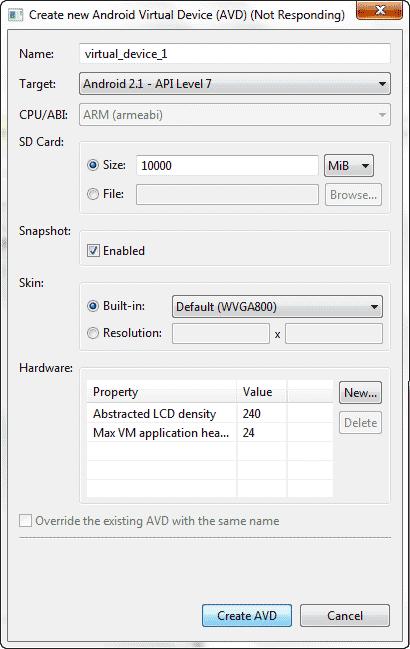 شبیه سازی برنامه های ساخته شده برای اندروید، توسط دستگاه مجازی