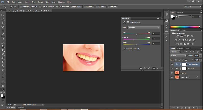 آموزش سفید کردن دندان ها در فتوشاپ