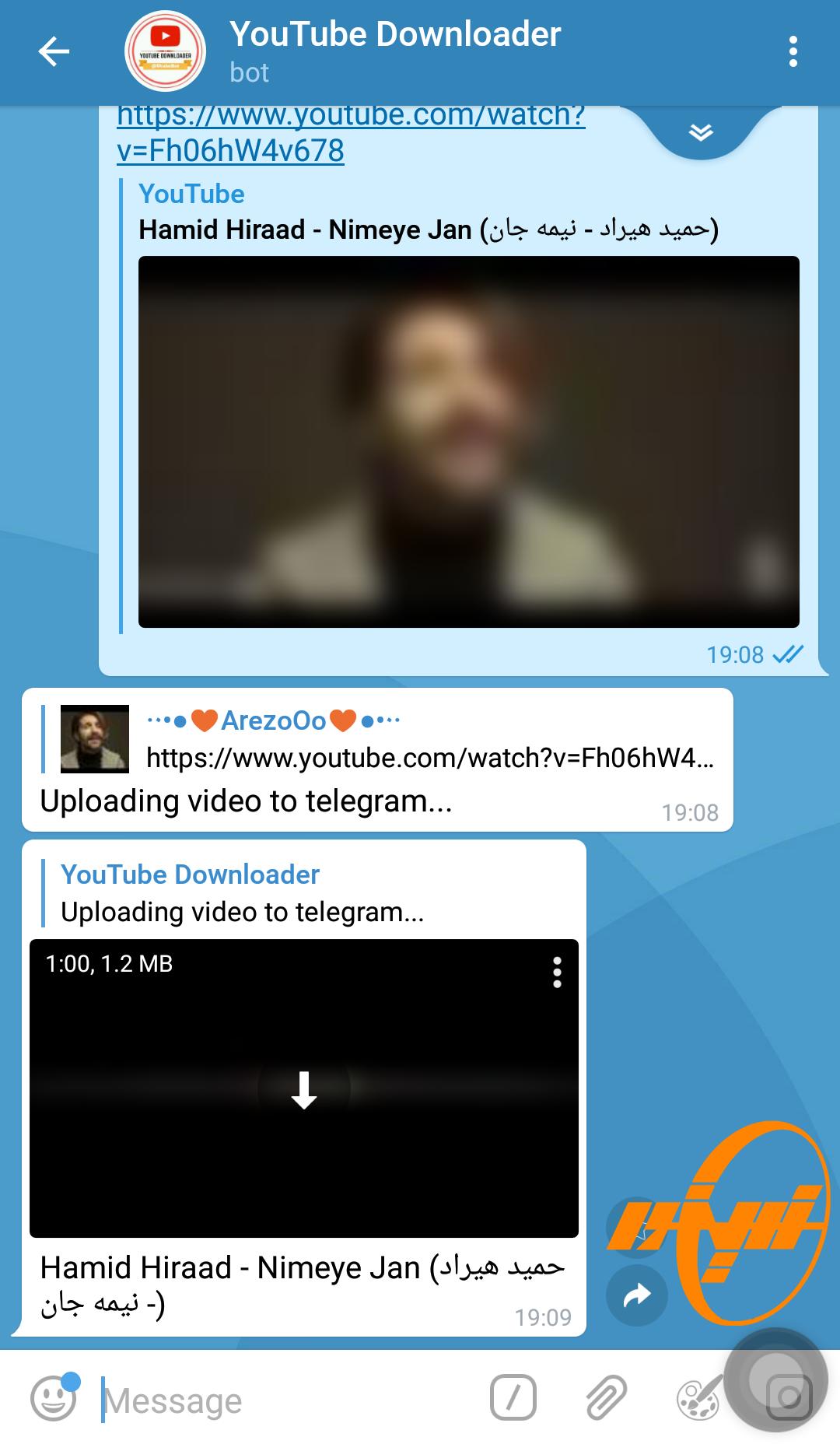 دانلود فیلم از یوتیوب با ربات در تلگرام