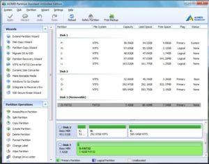 برنامه Aomei partition assistant