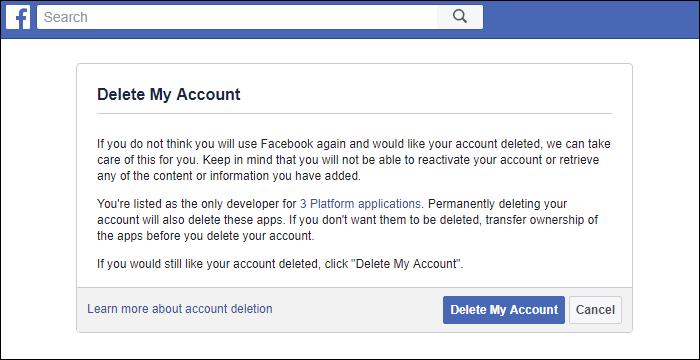 آموزش پاک کردن اکانت فیس بوک / تفاوت دی اکتیو با پاک کردن چیست؟