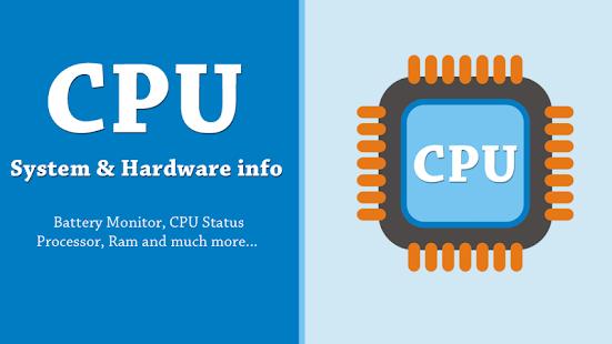 CPU X برنامهنمایش مشخصات سختافزاری و نرمافزاری اندروید