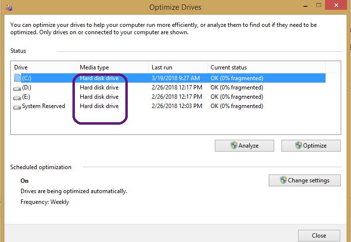 ترفند تشخیص نوع هارد دیسک کامپیوتر، SSD یا HDD