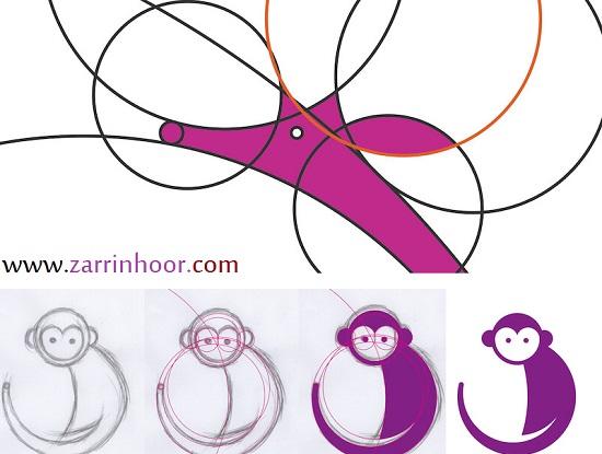 رسم حیوانات مختلف با استفاده از ۱۳ دایره(Illustrating-Animals)