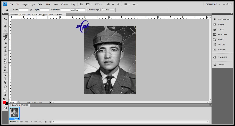 آموزش ترمیم عکس های قدیمی در فتوشاپ