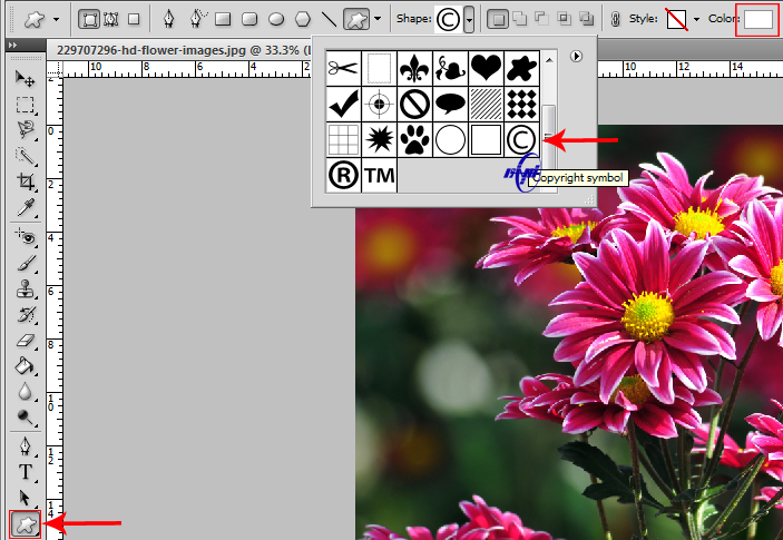 آموزش اضافه کردن واترمارک به تصویر در فتوشاپ