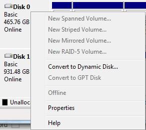 Convert hard disks