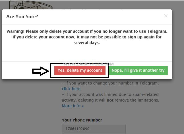 آموزش حذف اکانت تلگرام |Delete Telegram Account