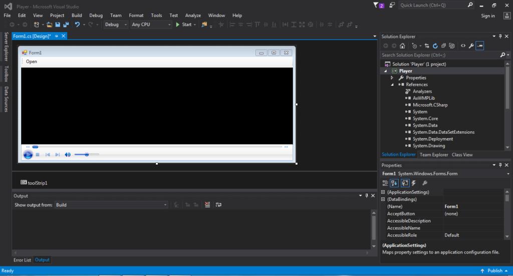آموزش ساخت میدیا پلیر با Csharp