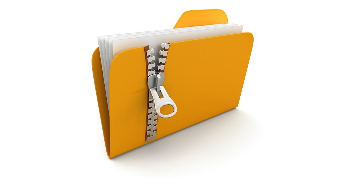 فشرده کردن دسته جمعی فایل ها به فرمت zip