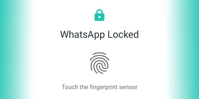 فعالسازی اثر انگشت در واتس اپ