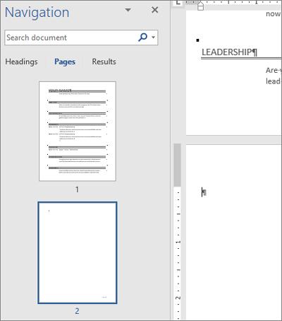حذف صفحه در word,حذف صفحه در ورد