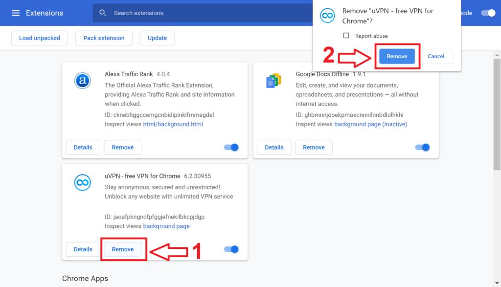 فعال کردن VPN در مرورگر گوگل کروم