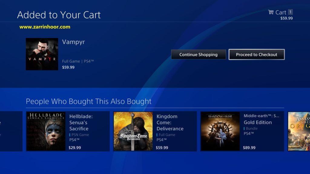 نحوه خرید از بازی دیجیتالps4