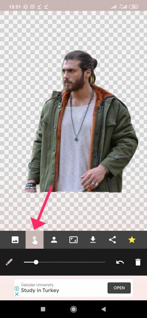 ترفند تغییر پسزمینه عکس با گوشی مرحله 2