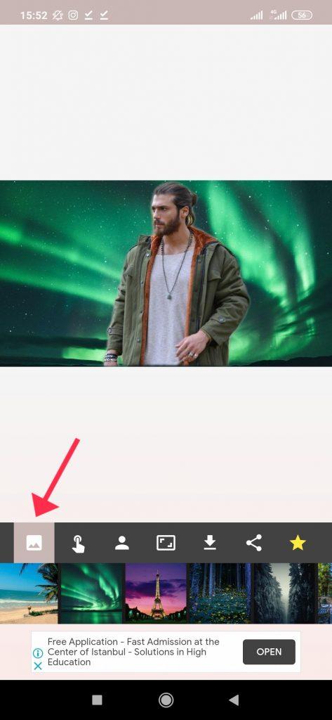ترفند تغییر پسزمینه عکس با گوشی مرحله 4
