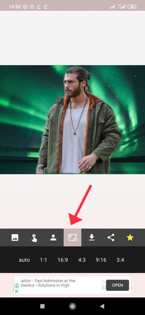 ترفند تغییر پسزمینه عکس با گوشی مرحله 5